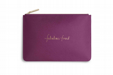 Katie Loxton FABULOUS FRIEND Perfect Pouch Clutch Bag  Cerise Pink